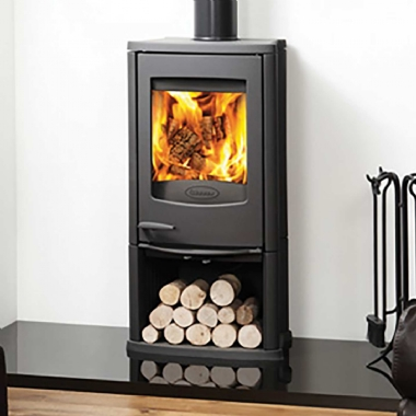 Dovre Astroline 2CB Woodburning Stove with Wood Box