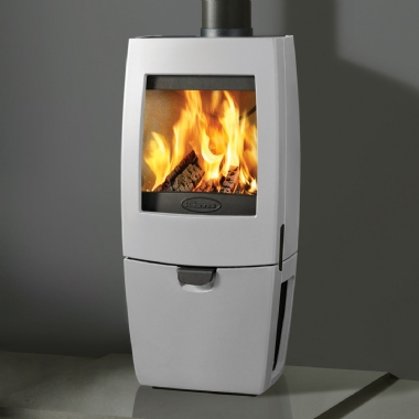 Dovre Sense 200 Woodburning Stove in White Enamel