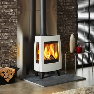 Dovre Sense 113 Woodburning Stove in White Enamel