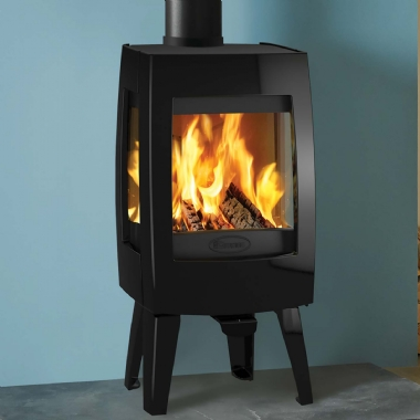 Dovre Sense 103 Woodburning Stove in Black Enamel