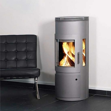 Westfire Uniq 16 Grey Woodburning Log Door Stove