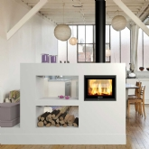 Dovre Zen 200 Woodburning Double Sided Inset Cassette Stove