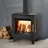 Westfire Uniq 23 Curve Side Glass Woodburning Stove
