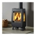 Dovre Sense113 Woodburning Stove in Matt Black
