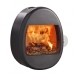 Scan 66-1 Wall Mounted Black Woodburning Stove