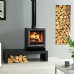 Stovax View 5 Multi Fuel Wood Burning Stove on Riva Bench