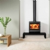 Stovax View 8 Mk3 Stove on Riva Bench