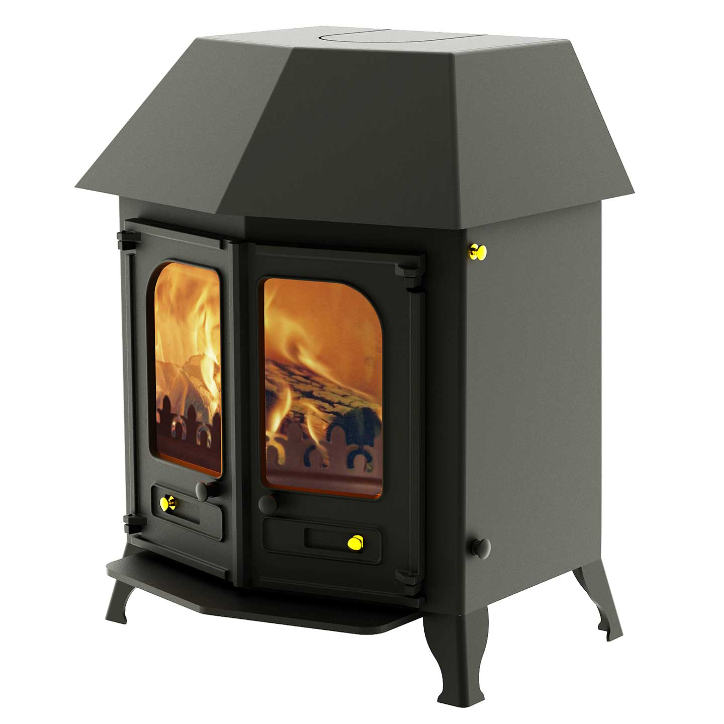 charnwood country 12 multi fuel 12kw stove the stove. Black Bedroom Furniture Sets. Home Design Ideas