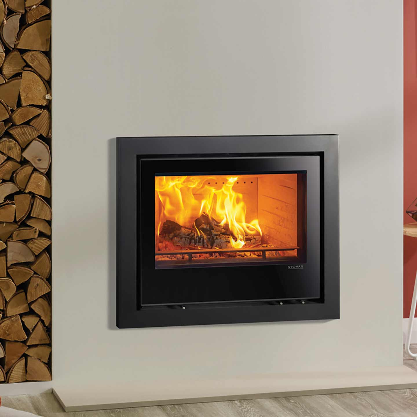Stovax Elise 680 Glass Wood Burning Cassette Stove The