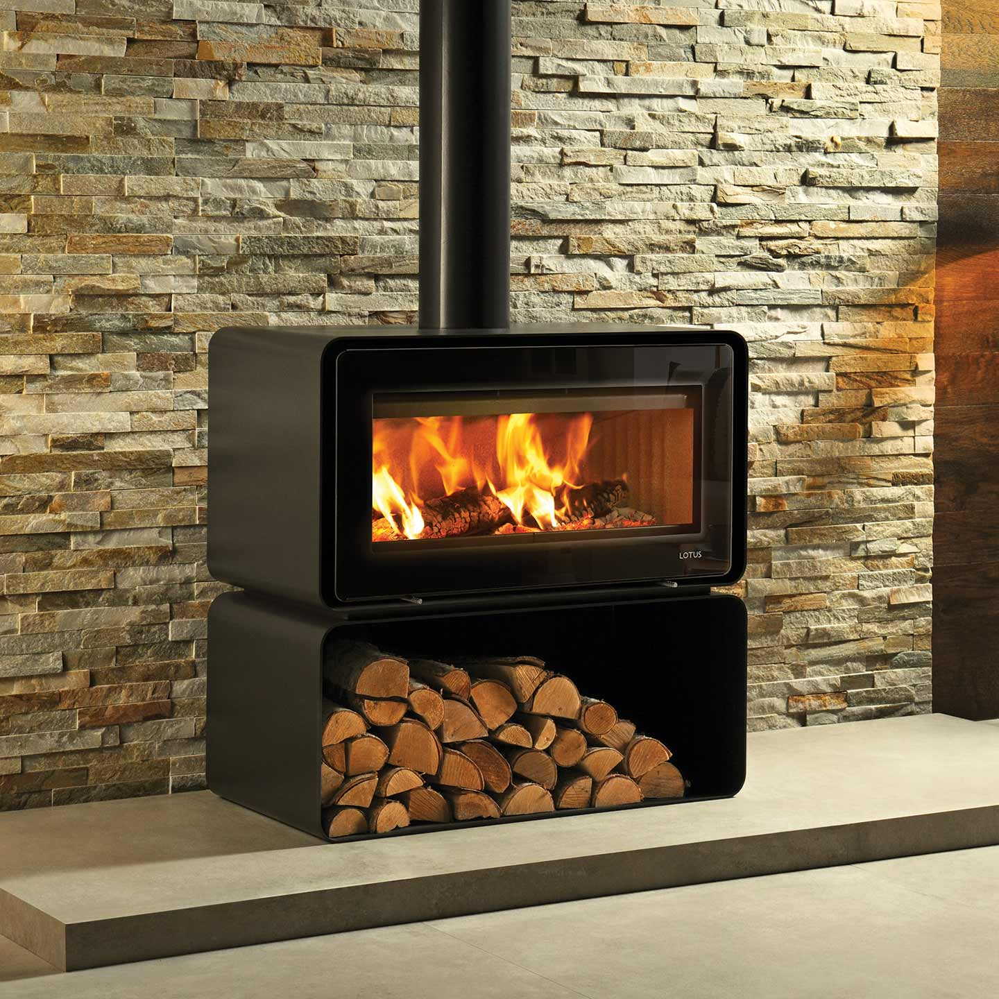Lotus Living Cube Wood Burning Stove The Stove Site
