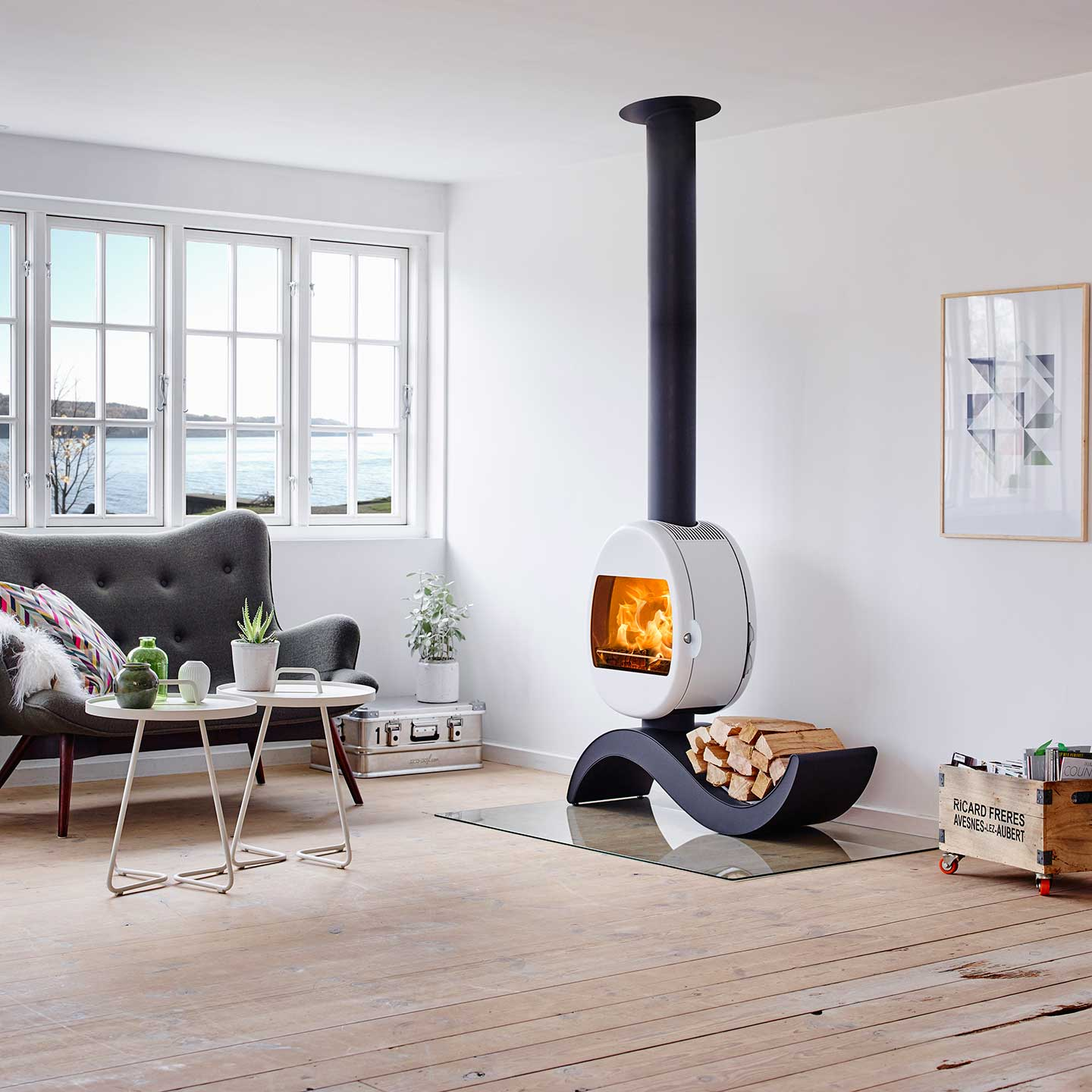 Scan 66 5 S Shaped Base Wood Burning Stove Approved