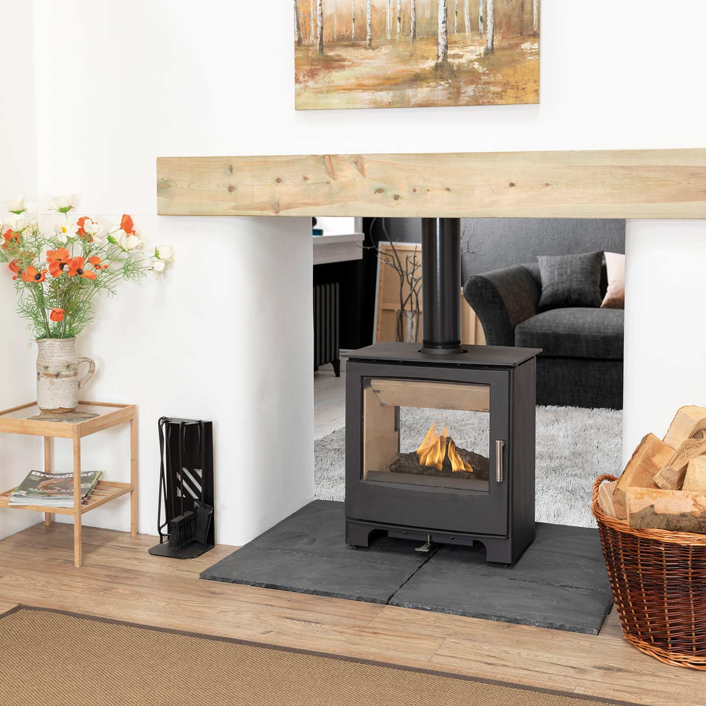Mendip Woodland Double Sided Wood Burning Stove The Stove Site